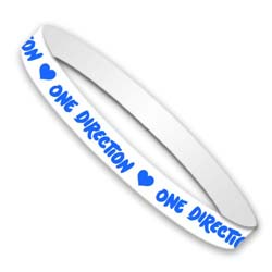 One Direction Gummy Wristband: Colours