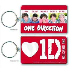 One Direction Standard Key-Chain: Band Shot (Double Sided)