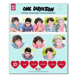 One Direction Sticker Set: 5 Head Shots