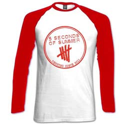 5 Seconds of Summer Ladies Raglan Tee: Derping Stamp