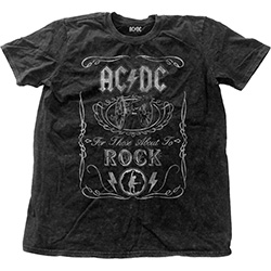 AC/DC Men's Fashion Tee: Cannon Swig Vintage with Snow Wash Finishing