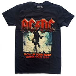 AC/DC Men's Tee: Blow Up Your Video