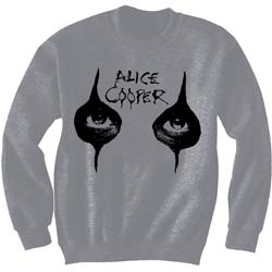 Alice Cooper Men's Sweatshirt: Eyes with Puff Print Finishing