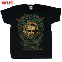 Alice Cooper Kids Youth's Fit Tee: Billion Dollar Baby
