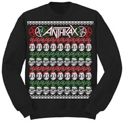 Anthrax Men's Sweatshirt: Skulls Christmas