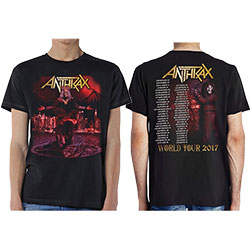 Anthrax Men's Tee: Bloody Eagle (with Back Print)