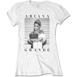 Ariana Grande Ladies Tee: Mug Shot