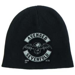 Avenged Sevenfold Men's Beanie Hat: Death Bat Crest