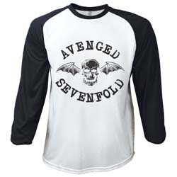 Avenged Sevenfold Men's Raglan Tee: Classic Death Bat