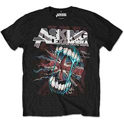Asking Alexandria Men's Tee: Flag Eater with Back Printing