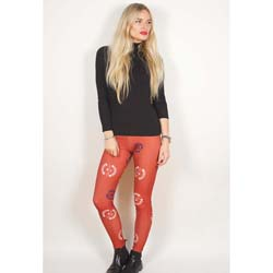 Avenged Sevenfold Ladies Fashion Leggings: Death Bat