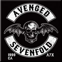 Avenged Sevenfold Fridge Magnet: Death Bat Crest