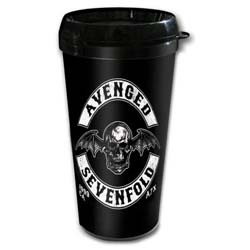Avenged Sevenfold Travel Mug: Death Bat Crest with Plastic Body