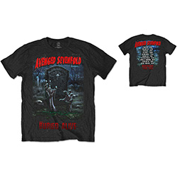 Avenged Sevenfold Men's Tee: Buried Alive Tour 2012 with Back Printing