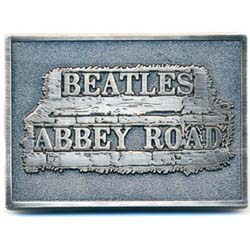 The Beatles Belt Buckle: Abbey Road Sign