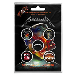 Metallica Button Badge Pack: Hardwired to self-destruct