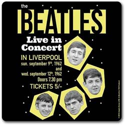 The Beatles Single Cork Coaster: 1962 Live in Concert