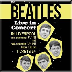 The Beatles Fridge Magnet: Live in Concert