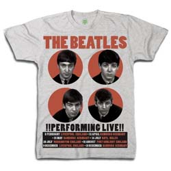 The Beatles Men's Premium Tee: 1962 Performing Live