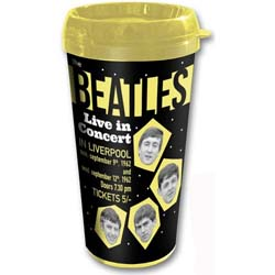 The Beatles Travel Mug: 1962 Live in Concert with Plastic Body