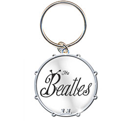 The Beatles Standard Key-Chain: 1963 Bug Logo & Drum
