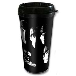 The Beatles Travel Mug: With The Beatles with Plastic Body