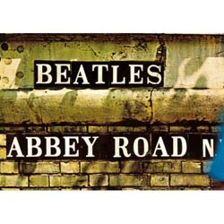 The Beatles Postcard: Abbey Road Sign (Standard)