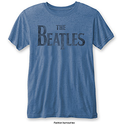 The Beatles Men's Fashion Tee: Drop T Logo (Burn Out)