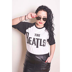 The Beatles Men's Raglan Tee: Drop T Logo