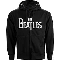 The Beatles Men's Zipped Hoodie: Drop T Logo