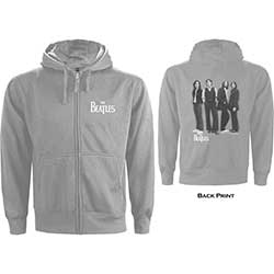 The Beatles Men's Zipped Hoodie: White Album with Back Printing