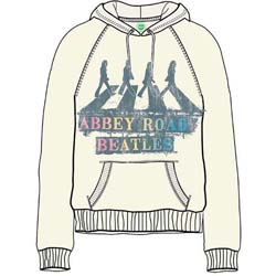 The Beatles Ladies Pullover Hoodie: Abbey Road Spray