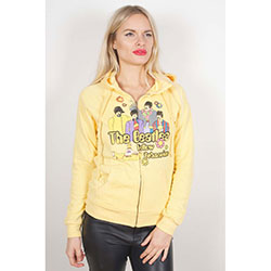 The Beatles Ladies Zipped Hoodie: Sub Band