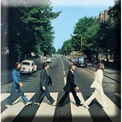 The Beatles Fridge Magnet: Abbey Road