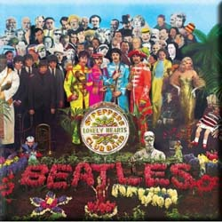 The Beatles Fridge Magnet: Sgt Pepper