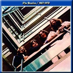 The Beatles Fridge Magnet: Blue Album
