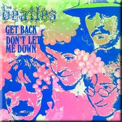 The Beatles Fridge Magnet: Get Back/Don't Let Me Down (Psychedelic)