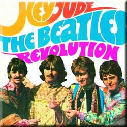 The Beatles Fridge Magnet: Hey Jude/Revolution
