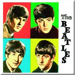 The Beatles Fridge Magnet: Coloured Boxes