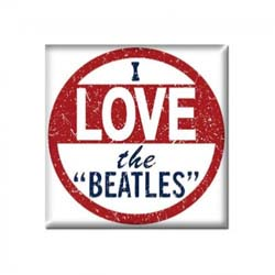 The Beatles Fridge Magnet: I Love