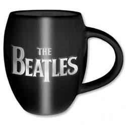 The Beatles Boxed Oval Mug: Drop T Logo & Apple with Oval Shaping and Embossed Finish
