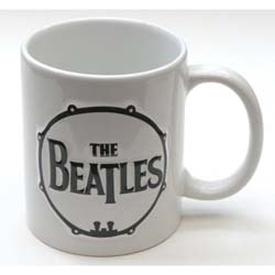 The Beatles Boxed Premium Mug: Drum & Apple Records with Sculpted Finish