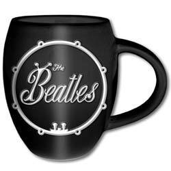 The Beatles Boxed Oval Mug: White Bug Logo with Oval Shaping and Embossed Finish