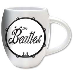 The Beatles Boxed Oval Mug: Black Bug Logo with Oval Shaping and Embossed Finish