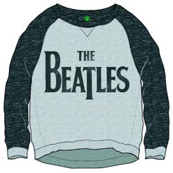 The Beatles Ladies Sweatshirt: Drop T Logo with Cropped Styling