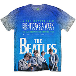The Beatles Men's Tee: 8 Days a Week Movie Poster with Sublimation Printing
