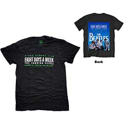 The Beatles Men's Tee: 8 Days A Week Movie Poster with Back Printing