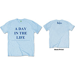 The Beatles Men's Tee: A Day in the Life (Back Print)