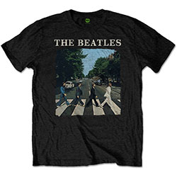 The Beatles Men's Premium Tee: Abbey Road & Logo