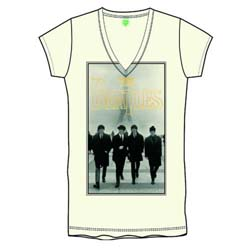 The Beatles Ladies Premium Tee: Eiffel Tower with Foiled Application